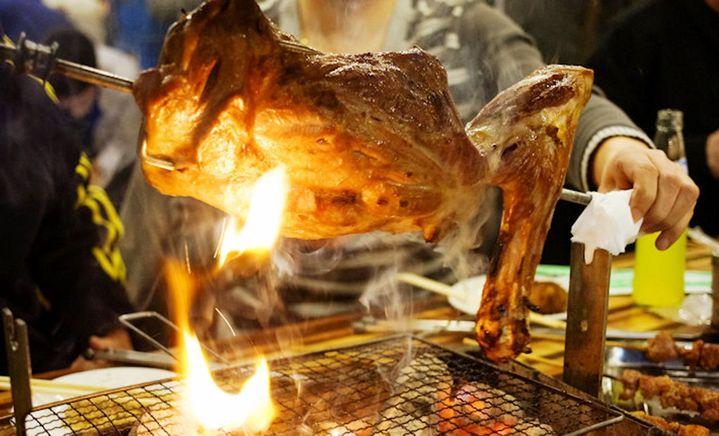 蒙古坉烤羊腿 - 大图