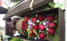 520鲜花11朵玫瑰2公仔