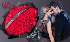 99枝精品玫瑰鲜花花束
