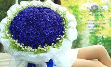 99朵蓝色妖姬鲜花