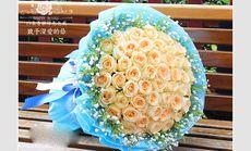 玫瑰传情66朵玫瑰精美花束