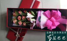 花巴巴11朵玫瑰香水百合