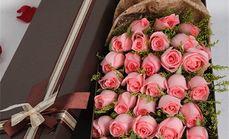 一语花香 21枝粉玫瑰礼盒