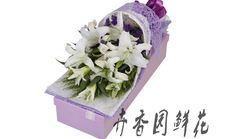 卉香园9朵白百合礼盒
