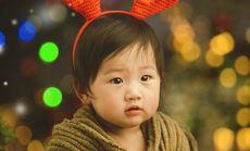 透明韩式风格儿童摄影艺术照