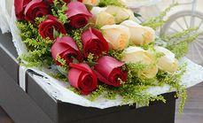 I DU鲜花22朵玫瑰礼盒