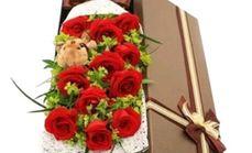 万卉源红玫瑰11朵礼盒经典