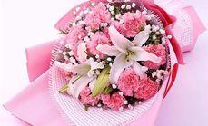爱慕鲜花12朵康乃馨花束