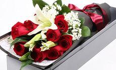 花田11朵红玫瑰3朵百合
