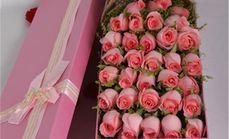久久缘33朵玫瑰礼盒包装