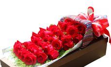茉莉花艺33支红玫瑰礼盒