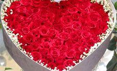 西里花坊66支玫瑰礼盒