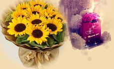 卉香园11朵向日葵花束