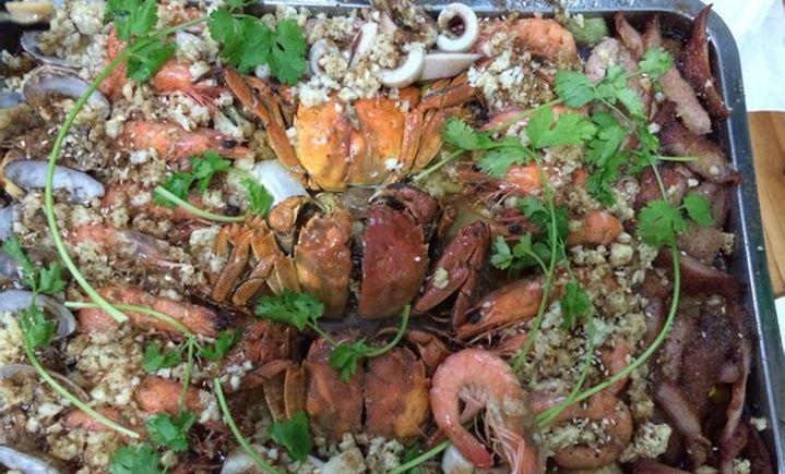 林记烤三鲜石锅鱼 - 大图