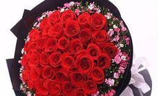 恬静花艺33支玫瑰花束