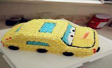 好利友儿童小汽车水果蛋糕