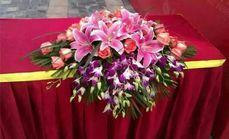 婚庆鲜花讲台花360