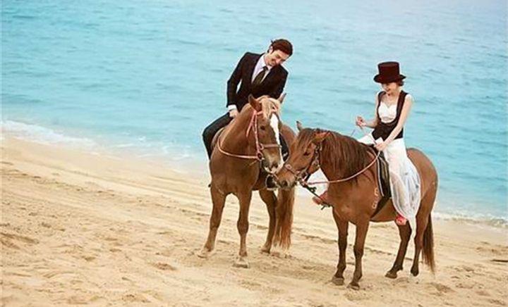 太公岛沙滩骑马场