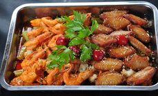 赫斯提凤翅烤虾五人餐