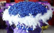 卉香园99朵蓝色妖姬花束