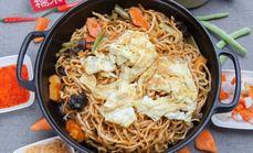 铁锅焖面素焖面3到4人餐