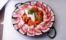 铁板胸叉肉八爪鱼套餐
