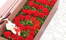 卉如鲜花33朵玫瑰长礼盒