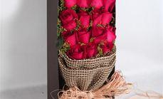 梓怡花坊33朵红色玫瑰礼盒