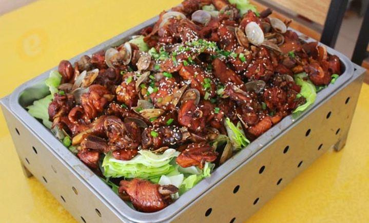 蛤蜊鸡博山菜