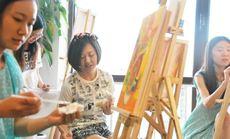 斑马线手绘工作室DIY油画