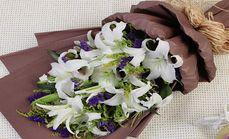 菲儿11朵白百合花束