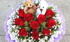 爱慕鲜花11支玫瑰花束