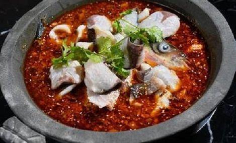 渔锅子石锅大头鱼