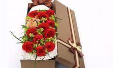 爱琴海11支玫瑰花束礼盒