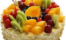 布兰客12寸鲜奶水果蛋糕