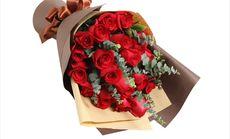 千寻鲜花19朵玫瑰花束鲜花