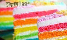 可可树焦糖布丁或彩虹蛋糕