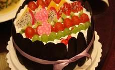 皖金牛8寸水果巧克力蛋糕