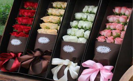 七彩玫瑰鲜花饼