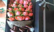 似锦鲜花33朵粉色礼盒