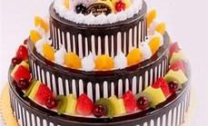 爱丽丝3层14英寸蛋糕