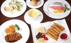 北京饭店烤鸭胸配蔬菜套餐