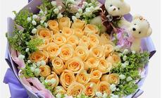 汇铨花卉33朵玫瑰加公仔