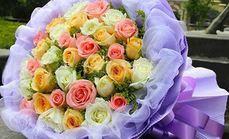红玫瑰花店33朵玫瑰花束