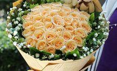 唯美盛典33枝香槟玫瑰