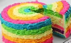 DIY彩虹蛋糕