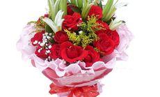 艾莉森29支玫瑰百合花束