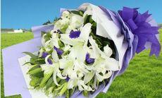 花为媒22朵百合花束