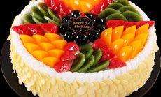 布兰客16寸鲜奶水果蛋糕