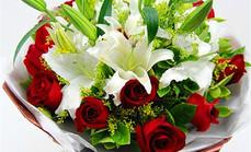 爱慕鲜花19朵玫瑰6朵百合